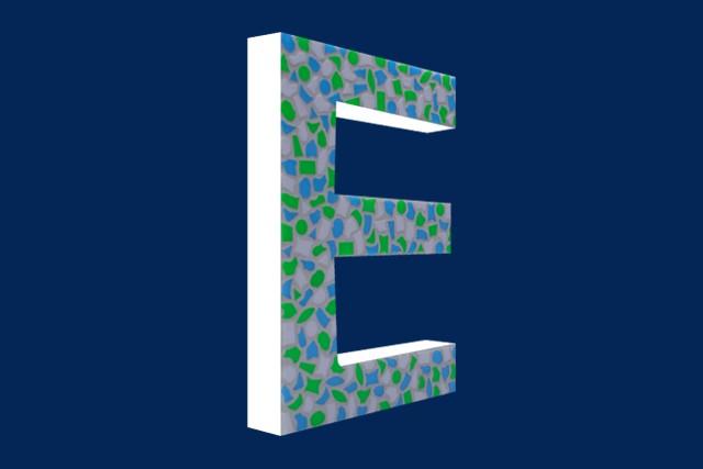 Cristallo Mozaiekpakket Letter E Fris
