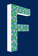 Mozaiekpakket Letter F Fris