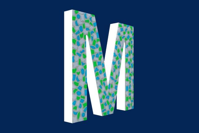 Cristallo Mozaiekpakket Letter M Fris