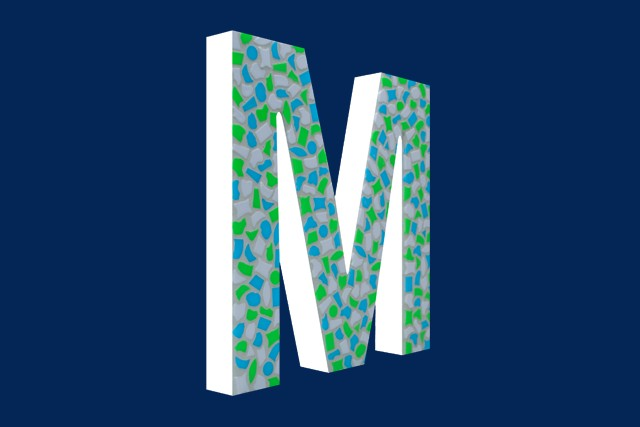 Mozaiekpakket Letter M Fris