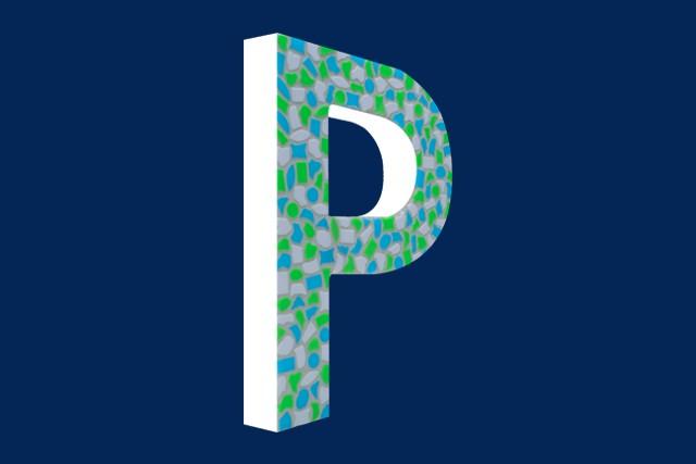 Cristallo Mozaiekpakket Letter P Fris
