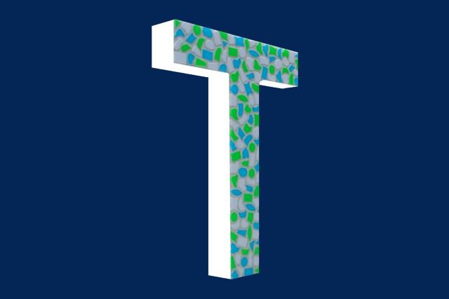 Mozaiekpakket Letter T Fris