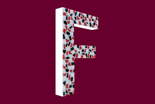 Cristallo Mozaiekpakket Letter F Stoer