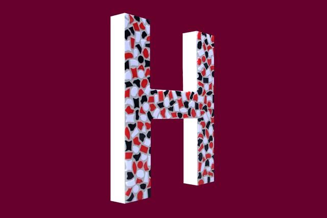 Mozaiekpakket Letter H Stoer