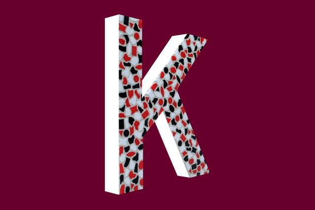Cristallo Mozaiekpakket Letter K Stoer