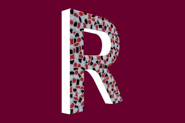 Cristallo Mozaiekpakket Letter R Stoer