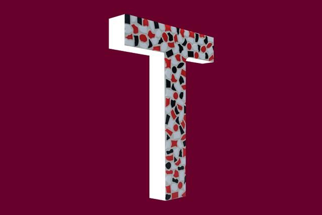 Cristallo Mozaiekpakket Letter T Stoer