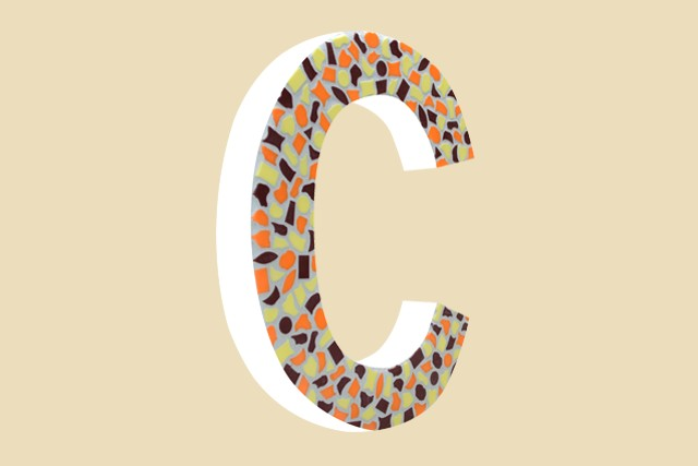 Cristallo Mozaiekpakket Letter C Warm