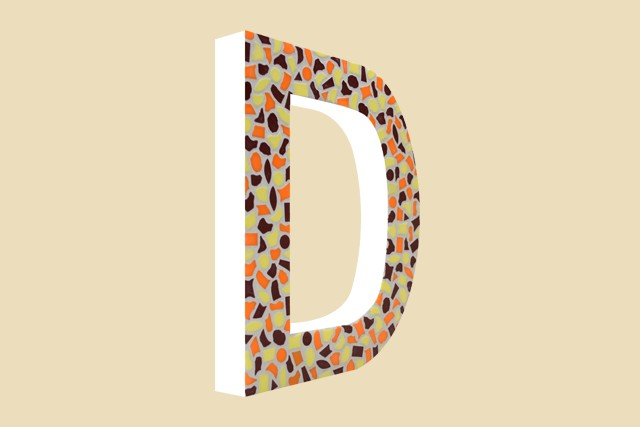 Cristallo Mozaiekpakket Letter D Warm