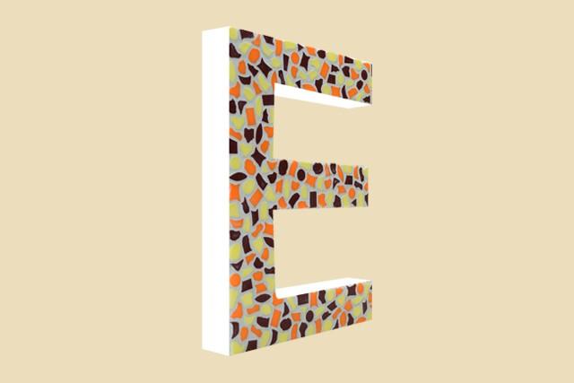 Mozaiekpakket Letter E Warm