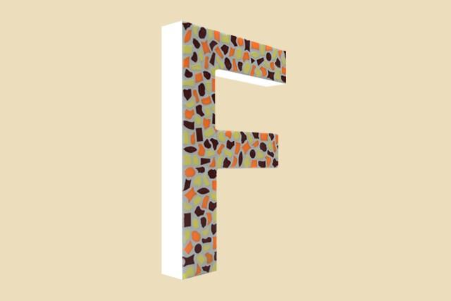 Cristallo Mozaiekpakket Letter F Warm