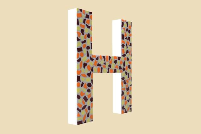 Mozaiekpakket Letter H Warm