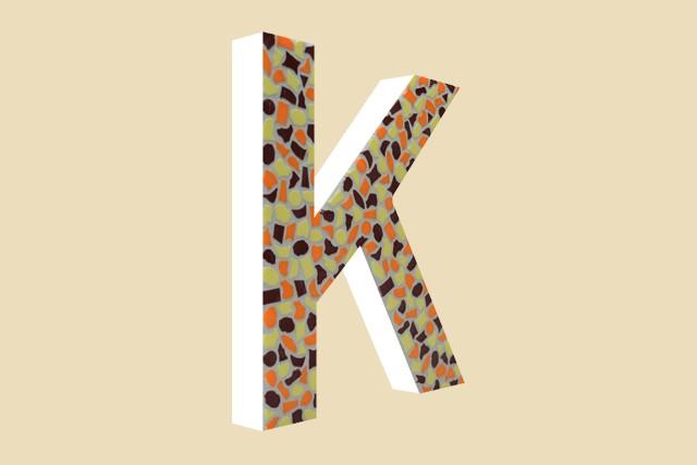 Mozaiekpakket Letter K Warm