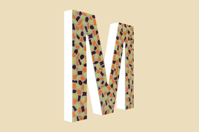 Mozaiekpakket Letter M Warm