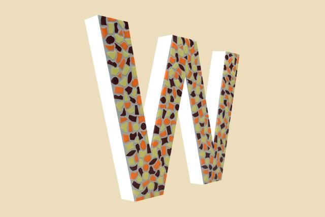 Cristallo Mozaiekpakket Letter W Warm