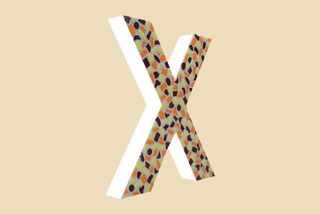 Cristallo Mozaiekpakket Letter X Warm