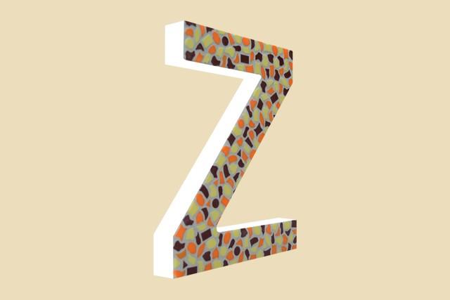 Mozaiekpakket Letter Z Warm