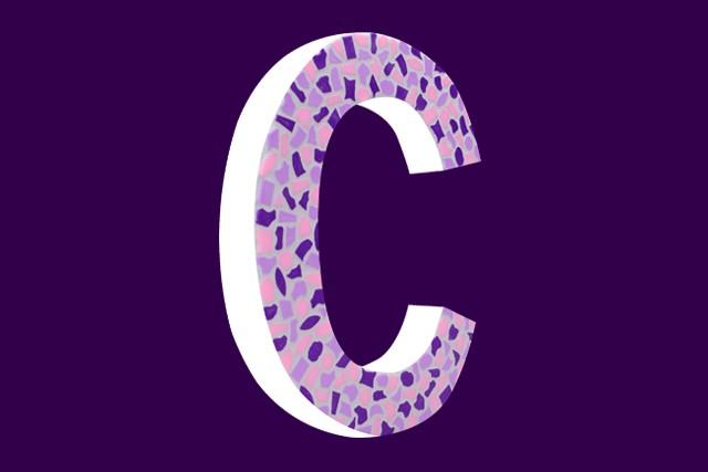 Mozaiekpakket Letter C Zacht