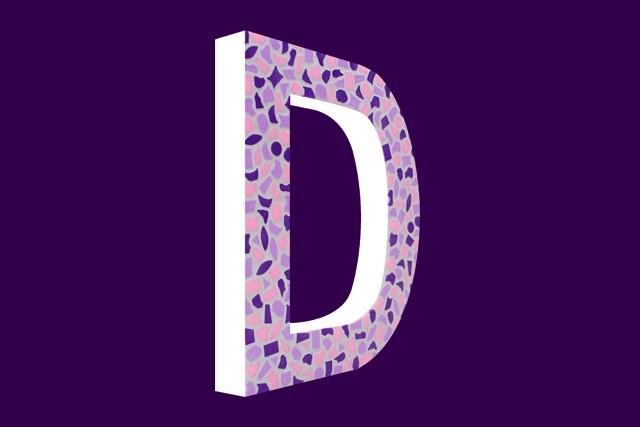 Mozaiekpakket Letter D Zacht
