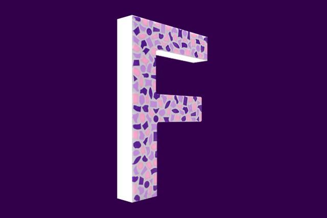Mozaiekpakket Letter F Zacht