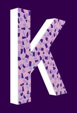 Mozaiekpakket Letter K Zacht