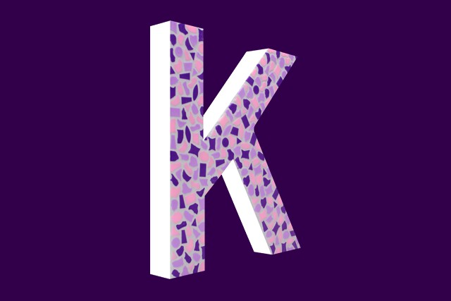 Cristallo Mozaiekpakket Letter K Zacht