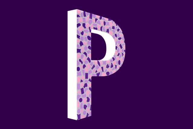 Mozaiekpakket Letter P Zacht