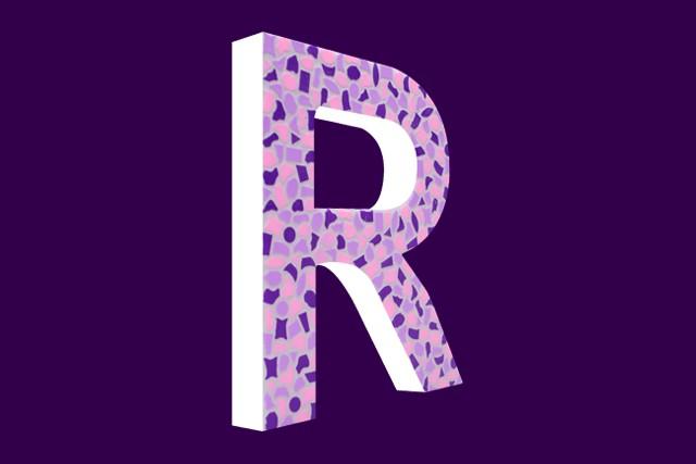 Mozaiekpakket Letter R Zacht