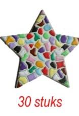 Ster 30 stuks mozaiekpakket MIX