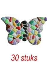 Cristallo VLINDER 30 stuks mozaiekpakket
