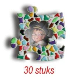 Cristallo Mini-fotolijstjes 30 stuks Bloem mozaiekpakket MIX