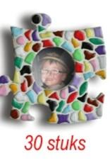 Cristallo Mini-fotolijstjes 30 stuks Cirkel mozaiekpakket MIX