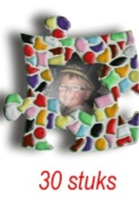 Cristallo Mini-fotolijstjes 30 stuks Ster mozaiekpakket MIX