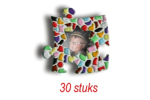 Mini-fotolijstjes 30 stuks Ster mozaiekpakket MIX