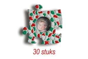 Cristallo Mini-fotolijstjes 30 stuks Cirkel mozaiekpakket KERST