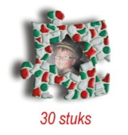 Mini-fotolijstjes 30 stuks Ster mozaiekpakket KERST