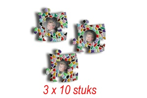 Cristallo Mini-fotolijstjes 3x10 stuks mozaiekpakket MIX