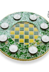 Waxinelichthouder Luxe Qringle groen-geel
