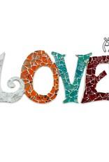 Love Qringle (oranje-bordeauxrood-turquoise-wit)