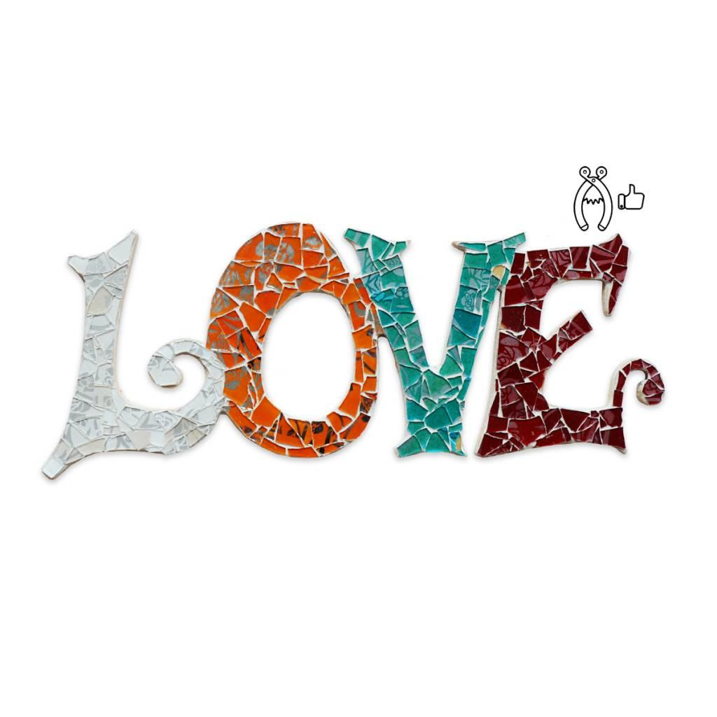Cristallo Love Qringle (oranje-bordeauxrood-turquoise-wit)