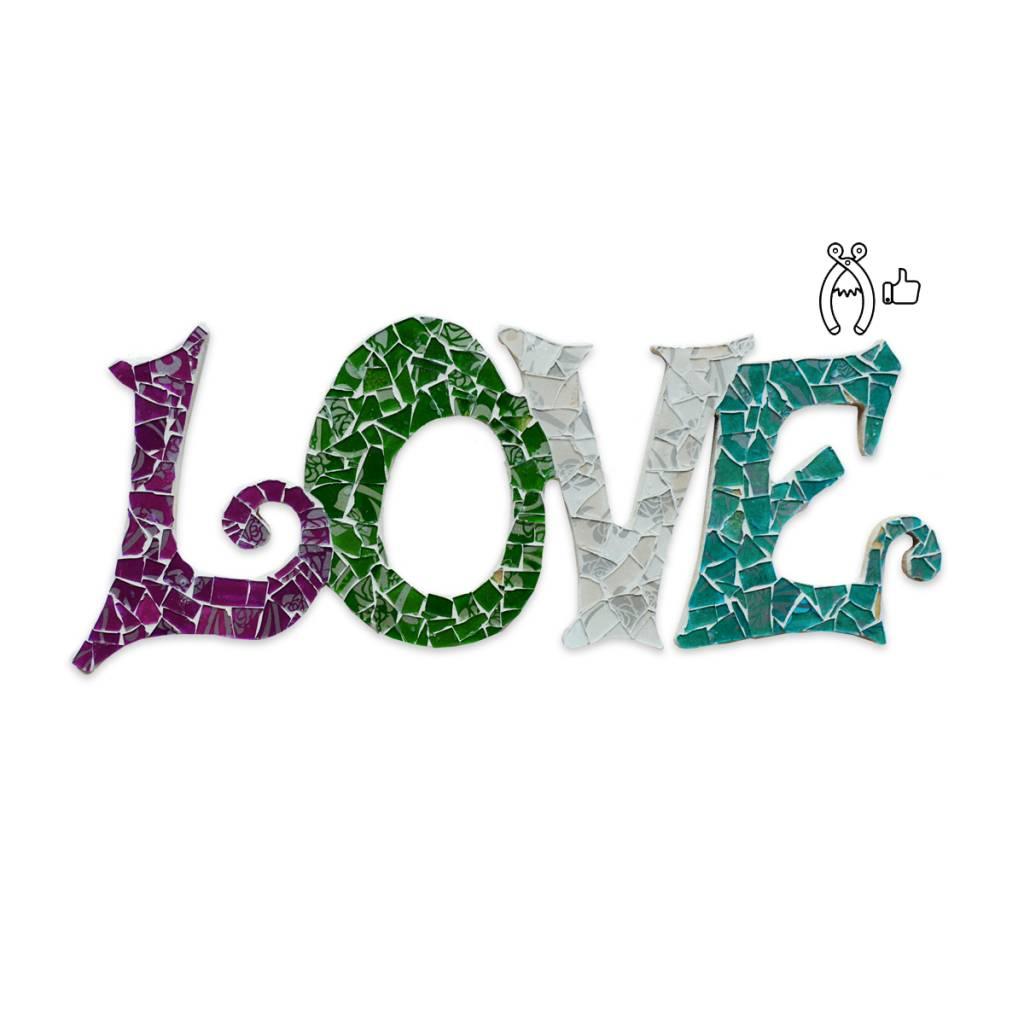 Cristallo Love Qringle (paars-groen-wit-turquoise)
