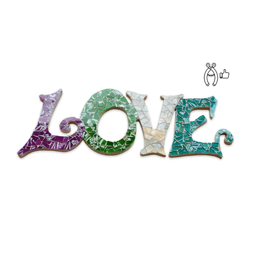 Love Qringle (paars-groen-wit-turquoise)