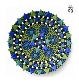Mozaiek schaal Spetter blauw-groen