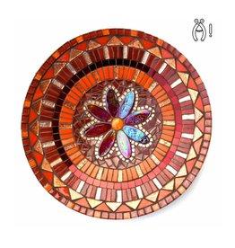 Mozaiek schaal Pracht oranje-rood