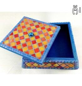 Sieradenkistje mozaiek pakket Fiësta Rood/Geel