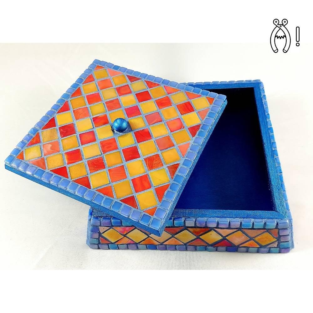 Sieradenkistje mozaiek pakket Fiesta Rood/Geel