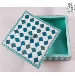 Sieradenkistje mozaiek pakket Fiësta Turquoise