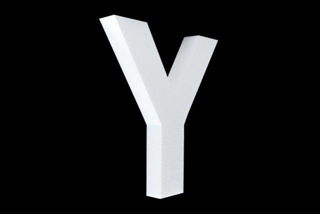 Cristallo Blanco letter Y