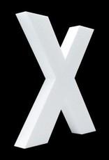 Cristallo Blanco letter X