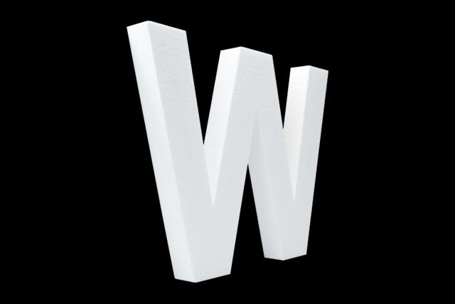 Cristallo Blanco letter W